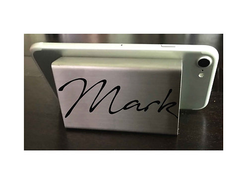 Personalized Cell Phone Stand, Metal Phone Stand, Cell Phone Holder
