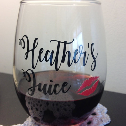Personalized Stemless Wine Glass | Customized 21oz Stemless Wine Glass