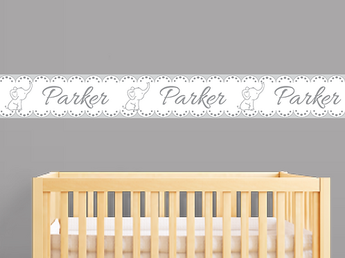 16 Feet Personalized Wall Borders Nursery Decor Self Adhesive