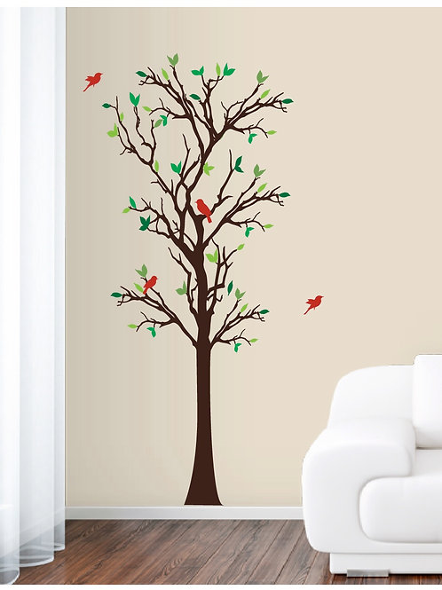 New 6ft tall Tree with Birds wall decal