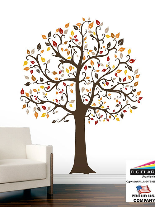 Fall Tree Large Wall Decal Art Sticker Mural