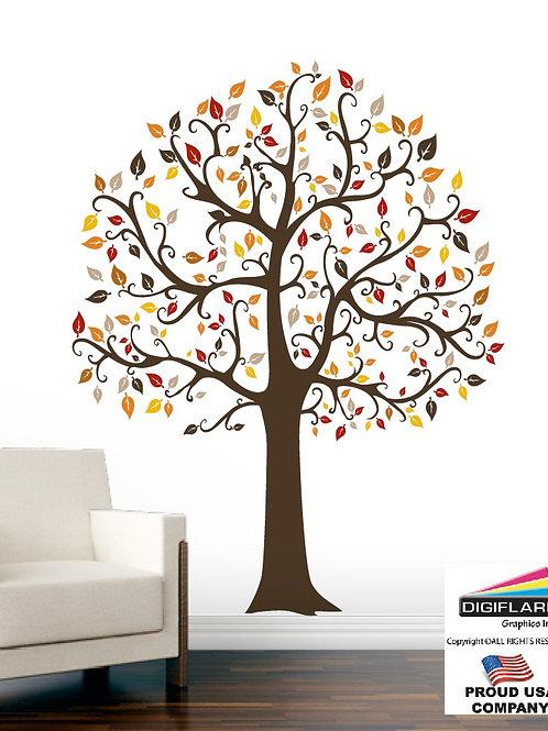 Fall Tree Large Wall Decal Art Sticker Mural