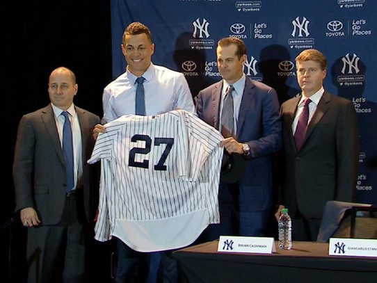 The Yankees Introduce Giancarlo Stanton