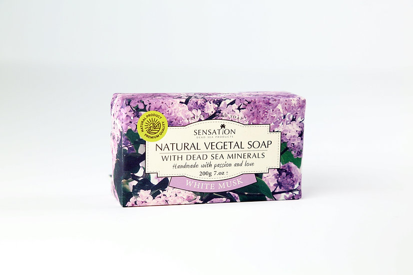Natural Vegetal Soap With Dead Sea Minerals (White Musk)