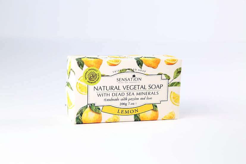 Natural Vegetal Soap With Dead Sea Minerals (Lemon)