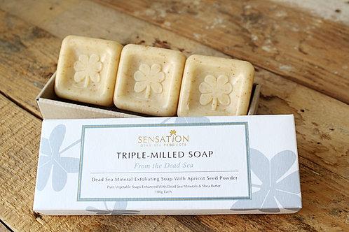 Sensation 3 TRIPLE MILLED Dead Sea Exfoliating Soap