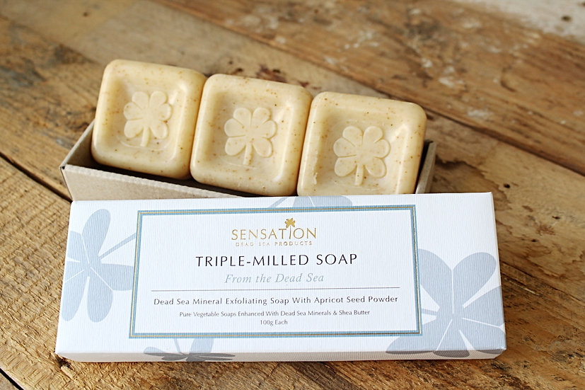 3 TRIPLE MILLED Dead Sea Exfoliating Soap