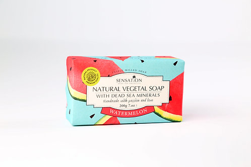 Natural Vegetal Soap With Dead Sea Minerals (Watermelon)