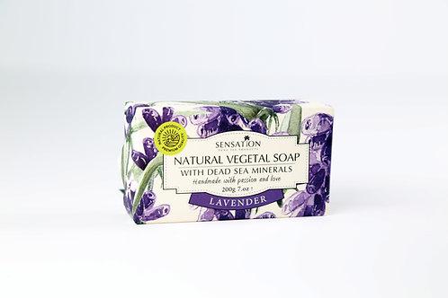 Natural Vegetal Soap With Dead Sea Minerals (Lavender)