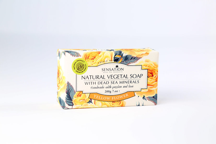 Natural Vegetal Soap With Dead Sea Minerals (Yellow Flowers)