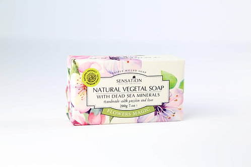Natural Vegetal Soap With Dead Sea Minerals (Flowers Magic)