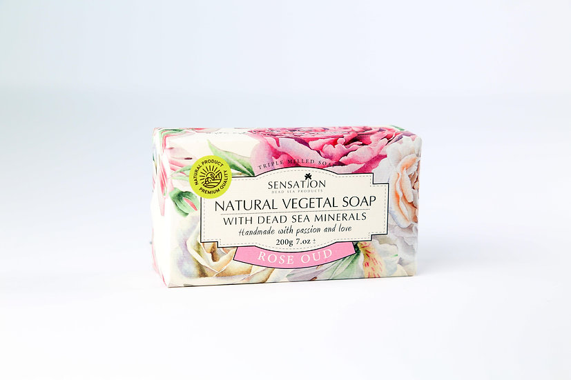 Natural Vegetal Soap With Dead Sea Minerals (Rose Oud)