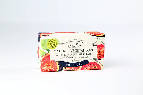 Natural Vegetal Soap With Dead Sea Minerals (Fig Fruit)