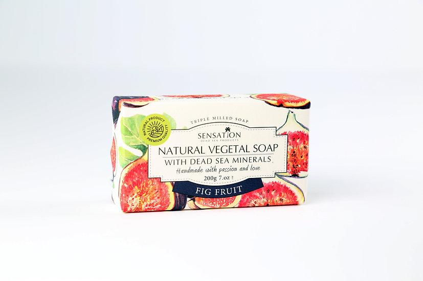 Natural Vegetal Soap With Dead Sea Minerals (Fig Fruit)