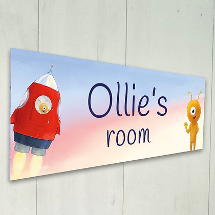 Personalised Room Sign - Ollie Discovers the Planets
