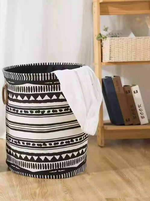 Geometrical Design Collapsible Laundry Basket