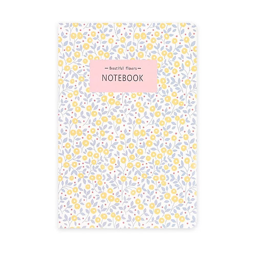 B5 Soft Cover Notebook -Vintage Flowers