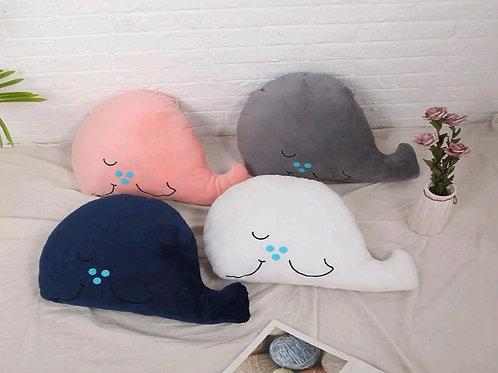 Velvet Whale Cushion