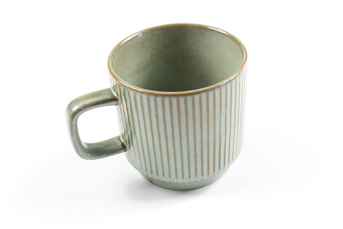 Daily Mug - Green stripes