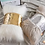 Thumbnail: Sequin Faux Fur Decorative Cushion