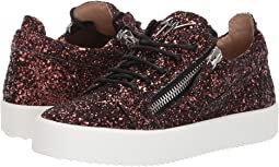 Giuseppe Zanotti Gail Low Top Sneaker with Zipper Detail