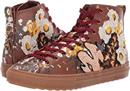 COACH C216 with Flower Patches