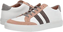 eleventy Leather Sneaker with Suede Trim