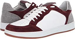 eleventy Leather Sneaker with Suede Contrast