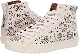 COACH C216 High Top with Cut Out Tea Rose - Leather