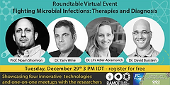 Lihi is participating in the round table: Fighting Microbial Infections Therapies and Diagnosis, December 29, 2020.