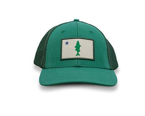 Old Maine Flag Striper Hat - Emerald Clouser