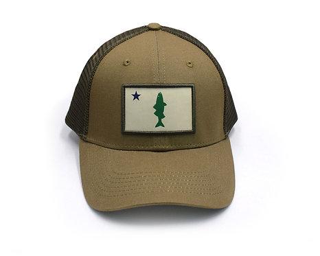 Old Maine Flag Striper Hat - Pollack