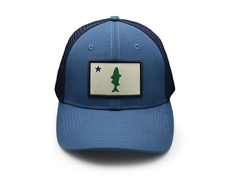 Old Maine Flag Striper Hat - Blue Mac