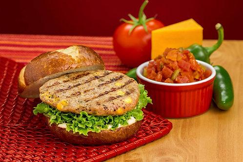 1/4 lb. Cheese and Jalapeño Pork Burger Patties