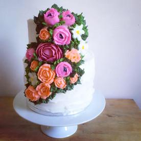 Spring Buttercream Flower Cake