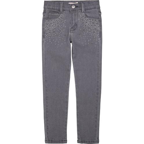 Pantalon en demin à paillettes - Billieblush