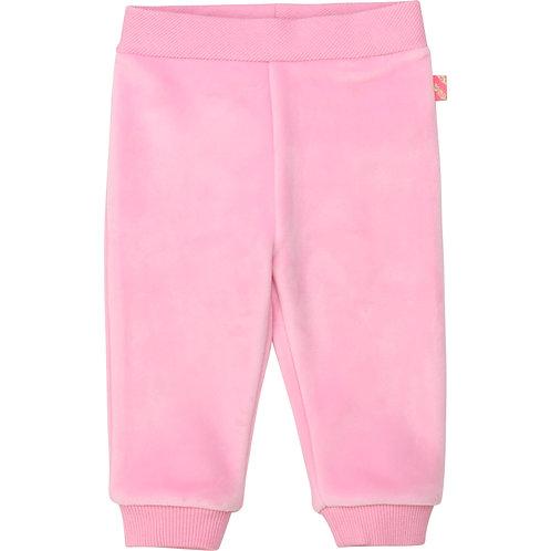 Pantalon en molleton velours rose friandise - Billieblush