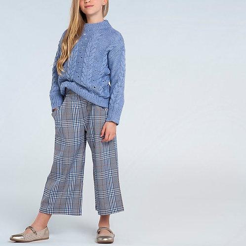 Pantalon à carreaux gris et bleu - Mayoral