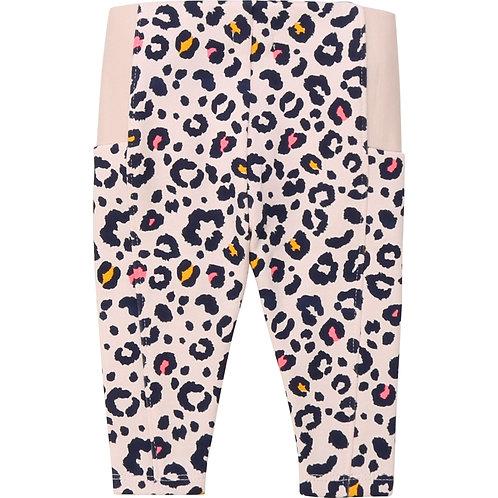 Pantalon en molleton imprimé léopard - Billieblush