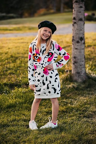 Robe en tricot à motif léopard - Catimini