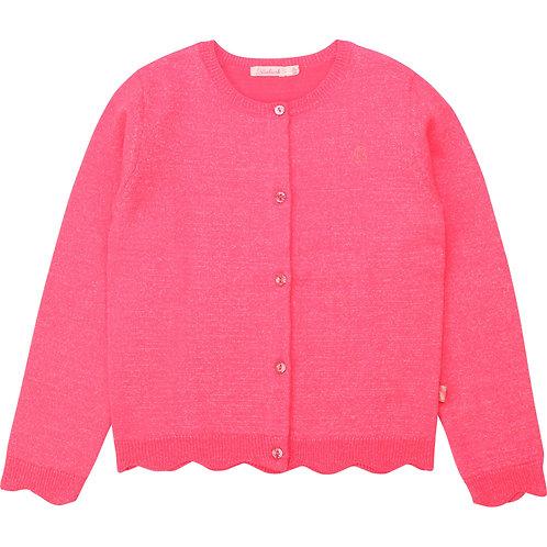 Cardigan en tricot rose fluo - Billieblush
