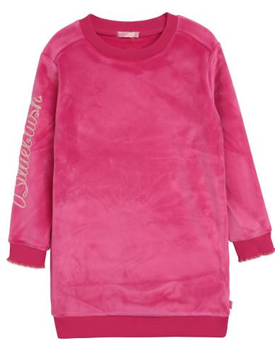 Robe en molleton velours rose peps - Billieblush