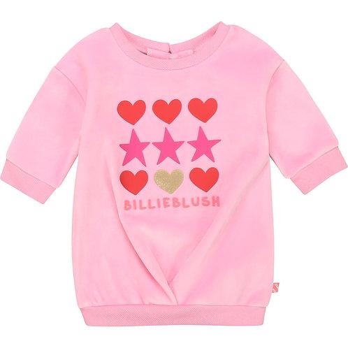 Robe en molleton rose friandise - Billieblush