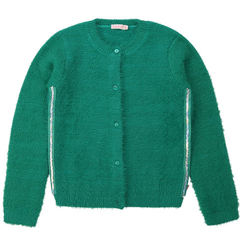 Cardigan en tricot duveteux vert - Billieblush