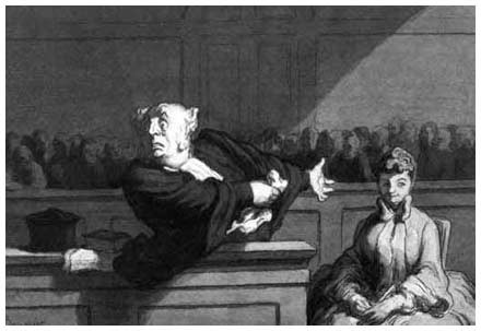 Master example; Studying Daumier's directional lines