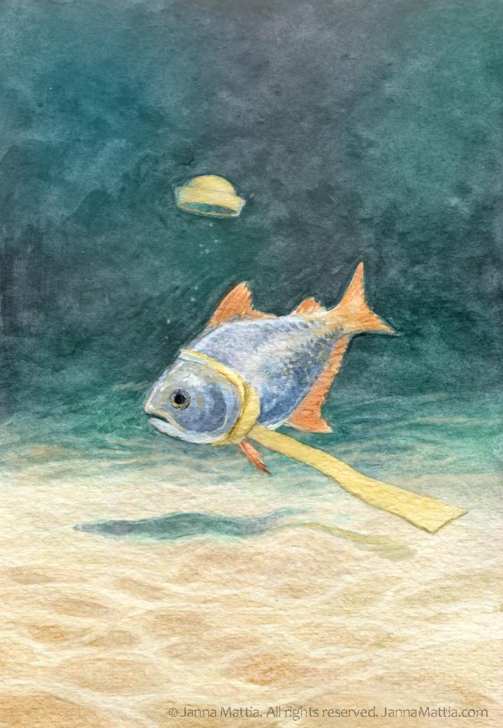 Fish loses his hat