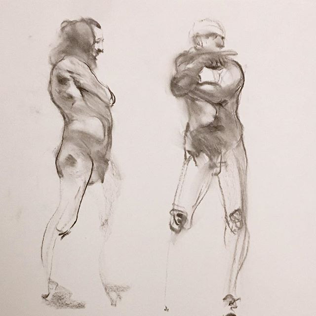 charcoal drawing by Ron Brown