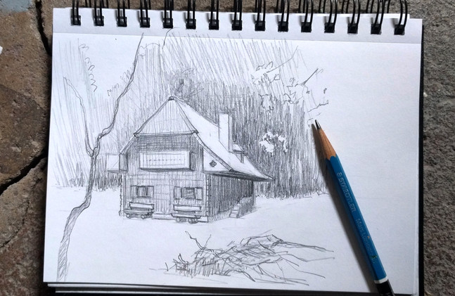Location sketch in graphite
