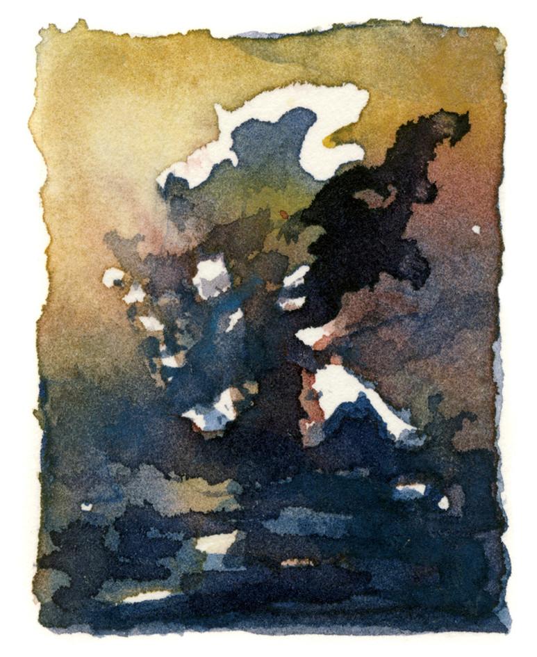 Composing in watercolor