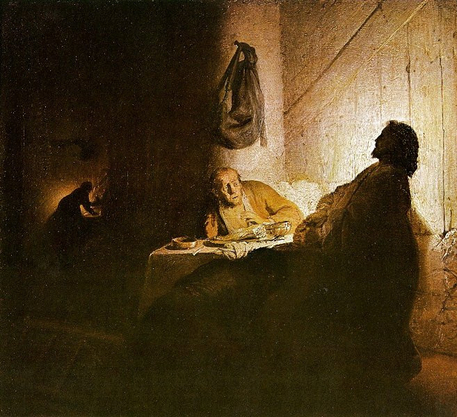 Master example; Studying Rembrandt's shapes